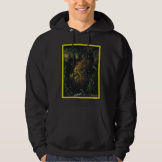 Glowing Goldfish floating out of Chinese lanterns Hoodie
