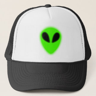 Glowing Green Alien Hat