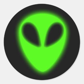 Glowing Green Alien Sticker