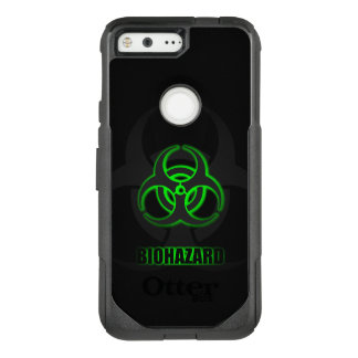 Glowing Green Biohazard Symbol OtterBox Commuter Google Pixel Case