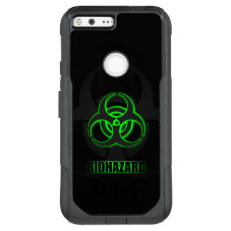 Glowing Green Biohazard Symbol OtterBox Commuter Google Pixel XL Case