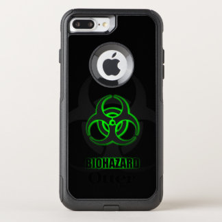 Glowing Green Biohazard Symbol OtterBox Commuter iPhone 7 Plus Case