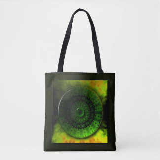Glowing Green Luminosity All-Over-Print Tote Bag