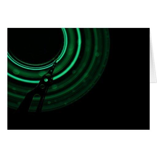 Glowing green mechanics card