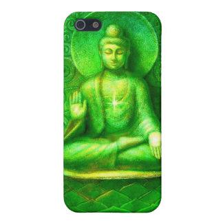 Glowing Green Zen Buddha iphone 4 case