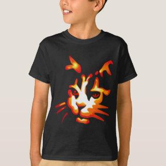 Glowing Halloween Cat Face Tees