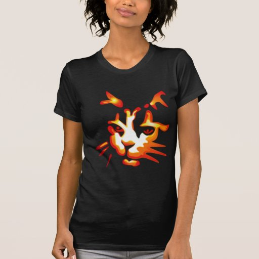Glowing Halloween Cat Face Shirt