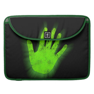 Glowing hand print. sleeve for MacBooks