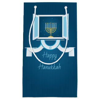 Glowing Hanukkah Lights Small Gift Bag