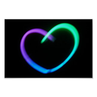 Glowing Heart Poster