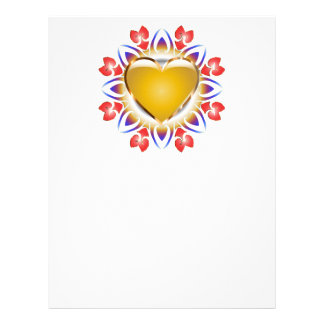 Glowing heart products. letterhead template
