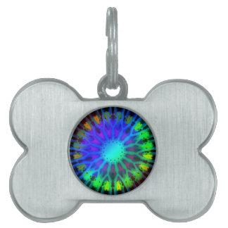 Glowing in the Dark Kaleidoscope art Pet Tag