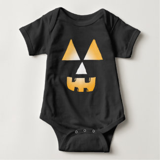Glowing Jackolantern face Baby Bodysuit