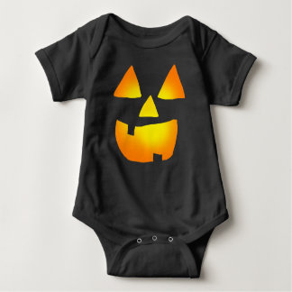 Glowing Jackolantern face Baby Clothes Baby Bodysuit