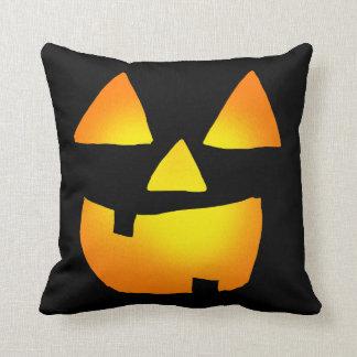 Glowing Jackolantern Face Throw Pillow