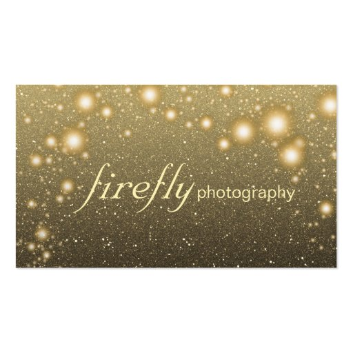 Glowing Jar Of Fireflies With Night Stars Business Card Template