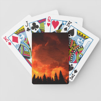 Glowing Landscape Bicycle Playing Cards