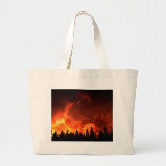 Glowing Landscape Large Tote Bag