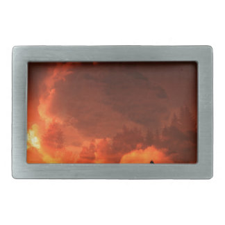 Glowing Landscape Rectangular Belt Buckle