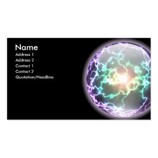 Glowing Lightning Ball Card Business Card Template