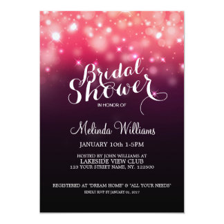 Glowing lights bridal shower invitation