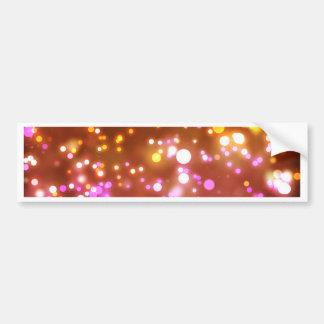 Glowing lights bumper sticker