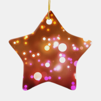 Glowing lights ceramic star ornament