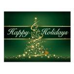 Glowing Lights Happy Holidays Postcard