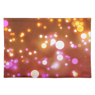 Glowing lights placemat
