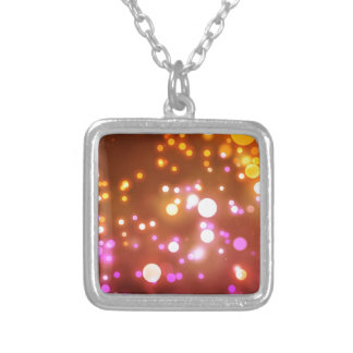 Glowing lights silver plated necklace