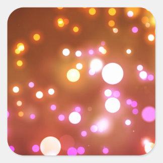 Glowing lights square sticker