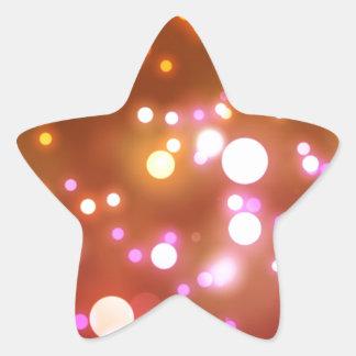 Glowing lights star sticker