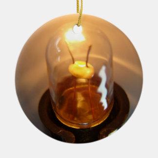 Glowing Low Voltage Light Bulb Ceramic Ornament
