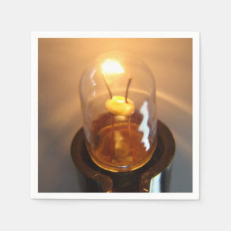 Glowing Low Voltage Light Bulb Paper Napkin