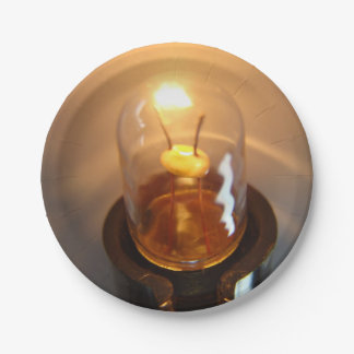 Glowing Low Voltage Light Bulb Paper Plate