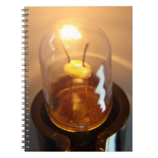 Glowing Low Voltage Light Bulb Spiral Notebook