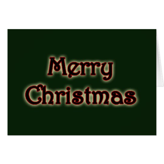 Glowing Merry Christmas Greeting Card