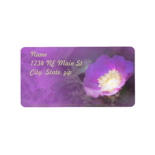 glowing old fashioned rose elegance label