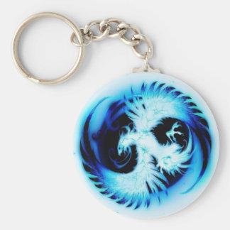 glowing phoenix blue keychain