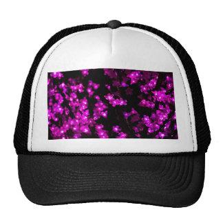 Glowing Pink Flower Lights Trucker Hat