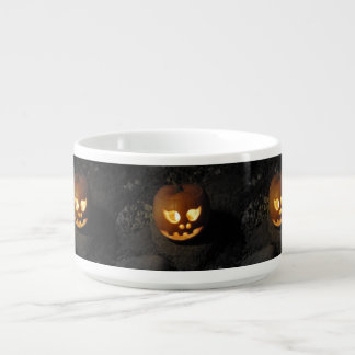 Glowing Pumpkin Chili Bowl