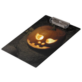 Glowing Pumpkin Clipboards