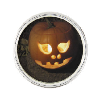 Glowing Pumpkin Lapel Pin