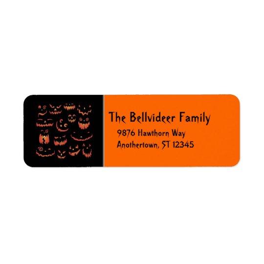 Glowing Pumpkins Return Address Labels