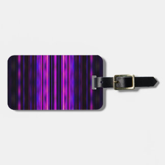 Glowing purple blurred stripes luggage tag