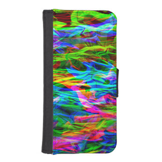 Glowing Rainbow Abstract Phone Wallet