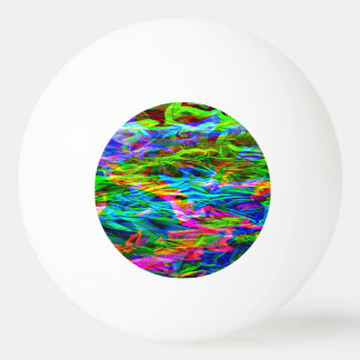 Glowing Rainbow Abstract Ping-Pong Ball