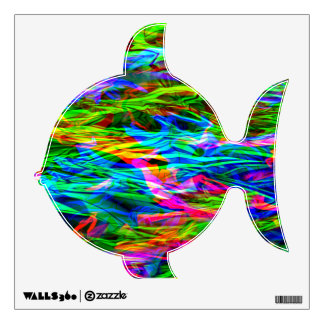 Glowing Rainbow Abstract Wall Sticker