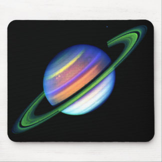 Glowing Saturn Mousepad
