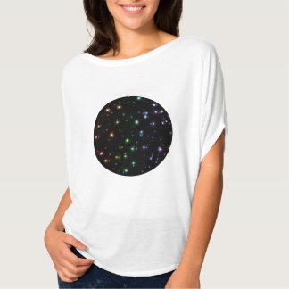Glowing Shiny Rainbow Stars In Space T-Shirt